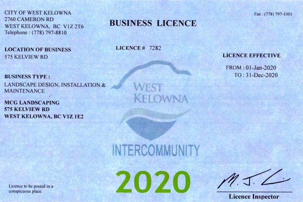 MCG business license 2020